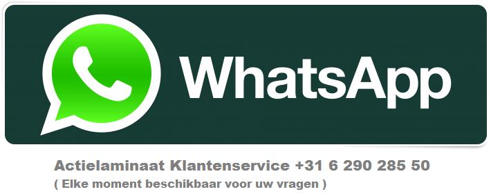 Actielaminaat Whatsapp Klantenservice
